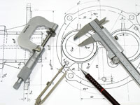 Drafting Tools and Blueprint