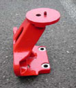 Red Metal Mount Part